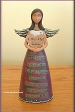 "A THANKFUL HEART ANGEL FIGURE BY KELLY RAE ROBERTS 7"" HIGH FREE U.S. SHIPPING"