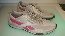 Reebok pink trimmed trainers sneakers women's size 11 shoes good condition