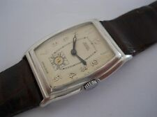 RARE TO FIND UNICORN BY ROLEX 0.925 SILVER CASE BLUE JEWELS SWISS WATCH Ca1930