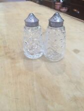 Waterford Crystal Glandore Salt And Peppers Shakers Silver Top p19