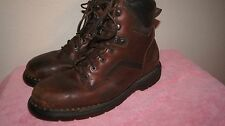 RED WINGS SAFETY EH WORK BOOTS BURGUNDY LEATHER LOGGER 9.5 EH  XWIDE