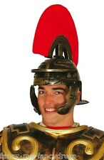 Adult Mens Roman Warrior Spartan Gladiator Fancy Dress Costume Outfit Hat Helmet