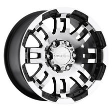 "4-NEW Vision 375 Warrior 17x8.5 6x139.7/6x5.5"" +25mm Black/Machined Wheels Rims"