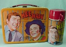 Vintage 1970 metal Hee Haw Lunch box and thermos T V show series