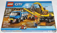 LEGO City EXCAVATOR and TRUCK 60075 demolition expert jackhammer shovel broom