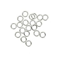 Small Jump Rings 4mm Silver Plated 0.7mm Thick - Pack of 20 (G96/16)