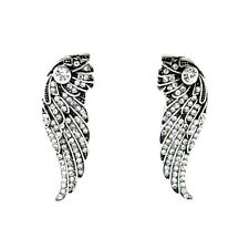 E1787 Fashion Brands Jewelry Vintage Silver Pave Crystals Wings Earrings Hot New