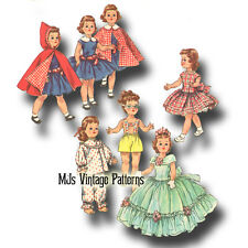 "Vtg Doll Clothes Pattern ~ 21"" 22"" Toni Walker, Miss Revlon, Sweet Sue, Cissy"