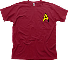 Star Trek Command Insignia Patch movie fancy dress navy cotton t-shirt 01075