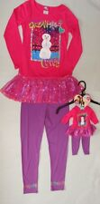 Size 4/5 Matching American Girl Doll Clothes Winter Snowman Outfit Top/Pants Set