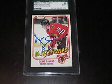 DENIS SAVARD AUTOGRAPHED 1981-82 O-PEE-CHEE ROOKIE CARD-SGC SLAB-ENCAPSULATED
