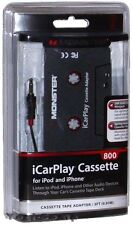 Monster iCarPlay 800 Cassette Tape Car Adapter for iPod MP3 & iPhone NEW!
