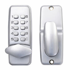 New Push Button Mechanical Digital Combination Code Door Lock Keyless Access
