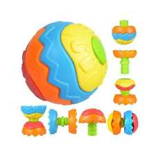 Cute Baby Kids Colorful Grasping Ball Puzzle Assembly Early Educational Toy Gift