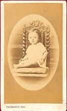 PHOTO CDV ENFANT SUR CHAISE THIEBAULT PHOTOGRAPHE GIEN