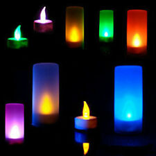 Multicolor Flameless LED Candle Flickering Tea Light Battery Wedding Home Decor