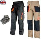 Work Trousers Mens Cargo Combat Style Heavy Duty Knee pads pockets With KNEEPADS