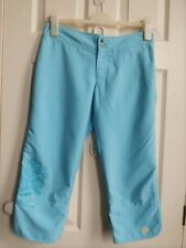 Ladies blue peachy feel CROPPED gym exercise trousers UK 8 from Nike