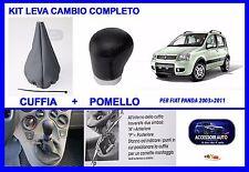 Cuffia Leva Marce  Pomello Leva Marce Fiat Panda dal2003 2012 Kit Cuffia Pomello