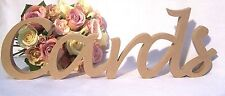 """""""Cards"""" MDF Wooden Letters gift, wedding, birthday wood sign decoration"""