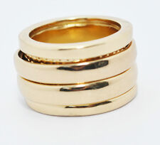 JULES SMITH 14k Yellow Gold Plated Gypsy Stacked Ring sz 7 $85 NEW
