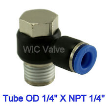 """5pcs Universal Male Elbow Connector Tube OD 1/4"""" X NPT 1/4"""" Air Push In Fitting"""