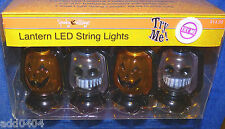 "Lantern LED string lights - 8 mini 4"" tall with sound effects - HALLOWEEN NWT"