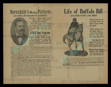 THE LIFE OF BUFFALO BILL ☆ MINT! ☆ 1912 MOVIE PROGRAM ☆ WITH MICRO X-RAY FILMS!!