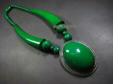 N4613 TIBET BOLD HUGE tribal green bead FASHION Massive Pendant Necklace Jewelry