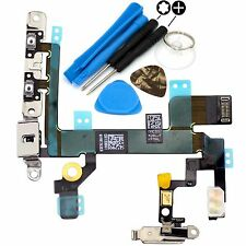 Replacement Power Flex Cable With Brackets Volume Button For iPhone 5S & Tools
