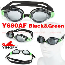 2016 NEW YINGFA Y680AF-3 BLACK&GREEN SWIMMING GOGGLES GLASSES ANTI-FOG FREE SHIP