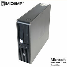 HP Small Desktop Computer PC Dual Core 3.4 GHZ 4GB 250GB DVD WIFI Windows 10 64