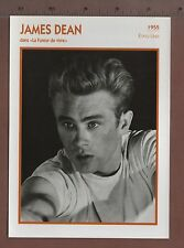 james dean -2- French Actor / ess trade card