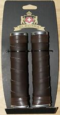 NEW Electra Ticino Wrap Faux Leather Bicycle Cruiser Townie Grips - DARK BROWN