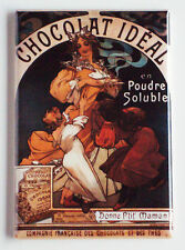 Chocolat Ideal FRIDGE MAGNET (2 x 3 inches) hot chocolate cooking kitchen poster