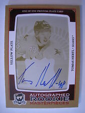 Hertl 2013-14 AUTOGRAPHED ROOKIE MASTERPIECES THE CUP RPA PRINTING PLATE 1 OF 1