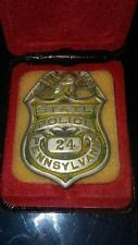 RARE Obsolete 1900'S Pennsylvania State Police Badge PSP Hallmarked