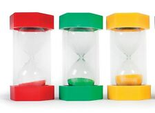3 x Large Sand Timers Special needs autism 16cm 1,2,3,5,10,20,30,45,60 minute