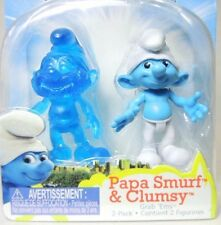 Papa Smurf & Clumsy The Smurfs Escape from Gargamel Mini-Figures Jakks Pacific
