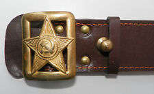 RUSSISCHE UdSSR Militär Armee KOPPEL GÜRTEL Commissar RKKA Red Army Belt Brown