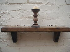 Rustic Mantle Shelf, Medium Oak, reclaimed wood, large,100cm, free delivery!