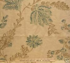 PARKERTEX MADRIGAL  PRINTED IN ENGLAND  LEAVES ON CREAM FABRIC