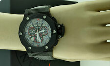 VANADIUM WATCH NEW BLACK CARBON FIBER DIAL CHRONOGRAPH SWISS MADE COMPLETE NEW