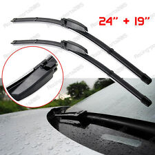 2x For VW VOLKSWAGEN CC EOS GOLF JETTA GTI BRACKETLESS WINDSHIELD WIPER BLADES
