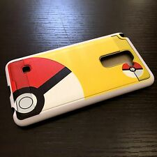 LG G Stylo 2 Plus MS550 - HARD & SOFT HYBRID CASE COVER YELLOW POKEMON POKEBALL