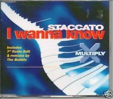 (820Q) Staccato, I Wanna Know - 1996 CD