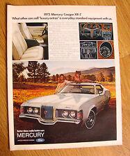 1972 Mercury Cougar XR-7 Ad