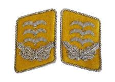 GERMAN LUFTWAFFE FLIEGER HAUPTMANN COLLAR TABS - WW2