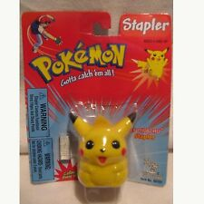 Vintage Pokemon Pikachu Figure Funny Stapler Staples Toys Island 1999 In Package