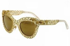 NEW DOLCE & GABBANA Gold Lace 2134 02/F9 SUNGLASSES FAST FREE SHIPPING!